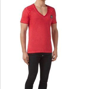 "Philipp Plein T-shirt V-Neck ""Raglan"" M"